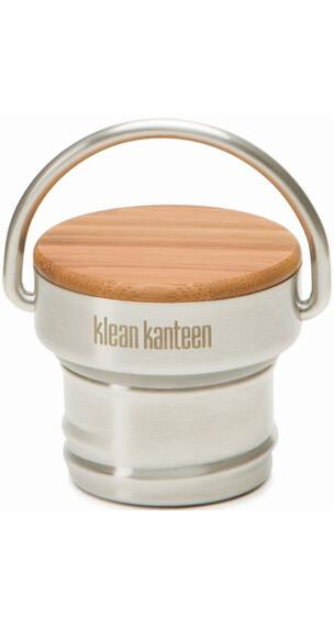 Klean Kanteen Bambus Edelstahl voor Classic bidons beige/zilver